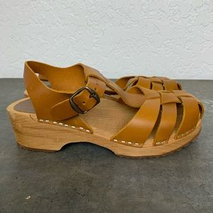MIA Emily clogs sandals brown size 9 39 VGUC